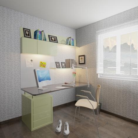 Study Room with natural and task lighting