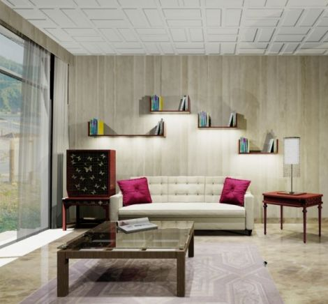 Living Room with eclectic style