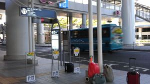 Bus boarding point outside Kansai Airport 1sty