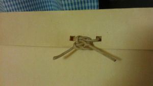 "Decided to be ""funny"" and tie up the envelop with a Chinese knot ** troublemaker**"